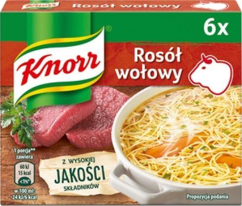 Knorr Rosół wołowy 60 g (6 x 10 g)