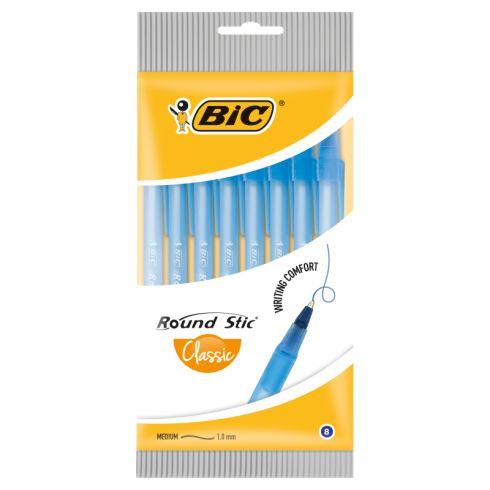 BiC Round Stic Classic Długopis niebieski 8 sztuk