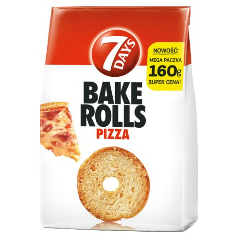 7 Days Bake Rolls Chrupki chlebowe o smaku pizzy 160 g