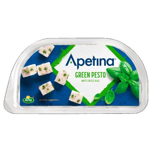 Arla Apetina Ser biały typu śródziemnomorskiego w zalewie olejowej z pesto 100 g