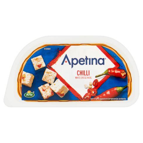 Arla Apetina Ser biały typu śródziemnomorskiego w zalewie olejowej z chili 100 g