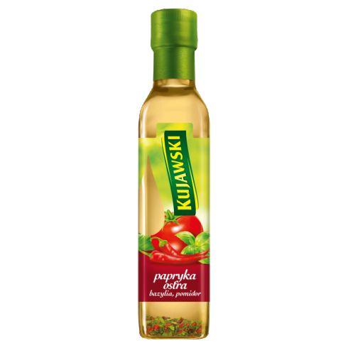 Kujawski Olej rzepakowy z pier. tł. z papr. ost. pomid. i bazylią 250 ml