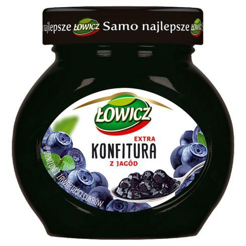 Łowicz Konfitura extra z jagód o obniżonej zawartości cukrów 240 g