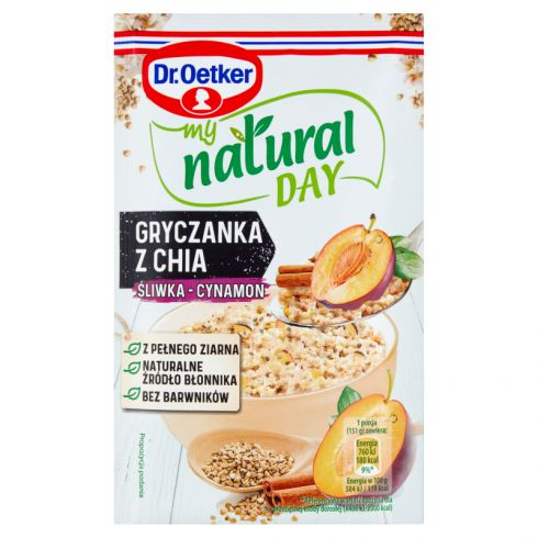 Dr. Oetker My Natural Day Gryczanka z chia śliwka-cynamon 51 g