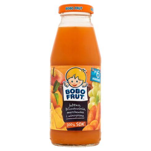 Bobo Frut 100% sok jabłko brzoskwinia i winogrona po 6 miesiącu 300 ml