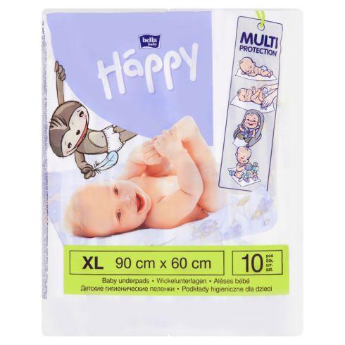 Bella Baby Happy Podkłady higieniczne dla dzieci XL 90 cm x 60 cm 10 sztuk