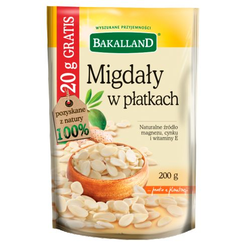 Bakalland Migdały w płatkach 200 g