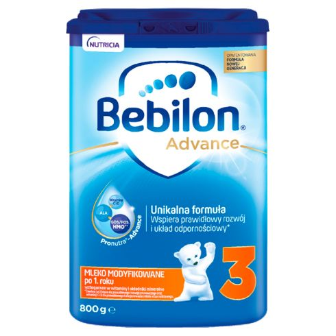 Bebilon 3 Pronutra-Advance Mleko modyfikowane po 1. roku życia 800 g
