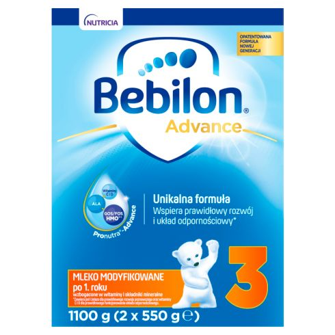 Bebilon 3 Pronutra-Advance Mleko modyfikowane po 1. roku życia 1100 g