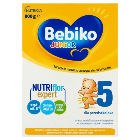 Bebiko Junior 5 Mleko modyfikowane dla dzieci powyżej 2,5. roku życia 800 g