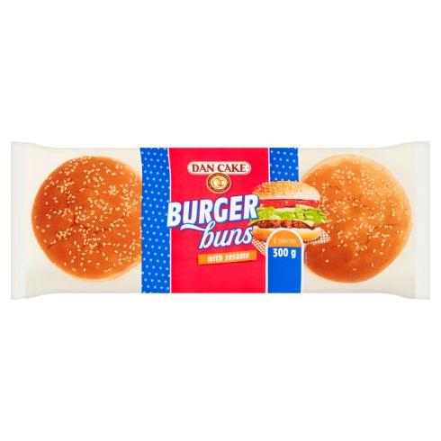 Dan Cake Bułki pszenne do hamburgerów z sezamem 300 g (6 x 50 g)