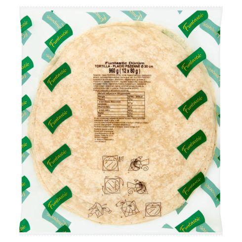 Funtastic Tortilla Placki pszenne 960 g (12 sztuk)