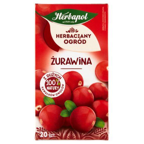 Herbapol Herbaciany Ogród Herbatka owocowo-ziołowa żurawina 50 g (20 x 2,5 g)