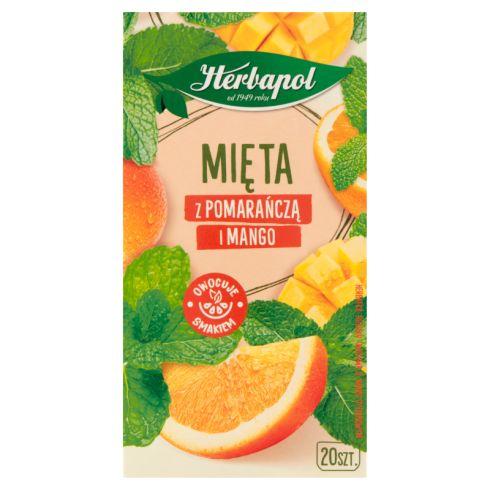 Herbapol Herbatka ziołowo-owocowa mięta z pomarańczą i mango 30 g (20 x 1,5 g)