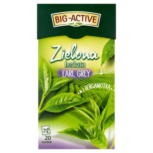 Big-Active Zielona herbata Earl Grey z bergamotką 30 g (20 x 1,5 g)