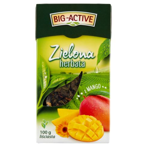 Big-Active Zielona herbata liściasta z mango 100 g