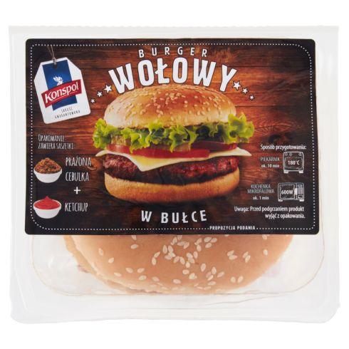 Konspol Burger wołowy w bułce 170 g