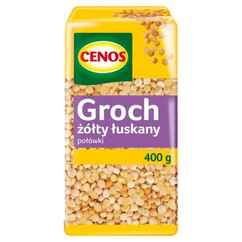 Cenos Groch żółty łuskany połówki 400 g