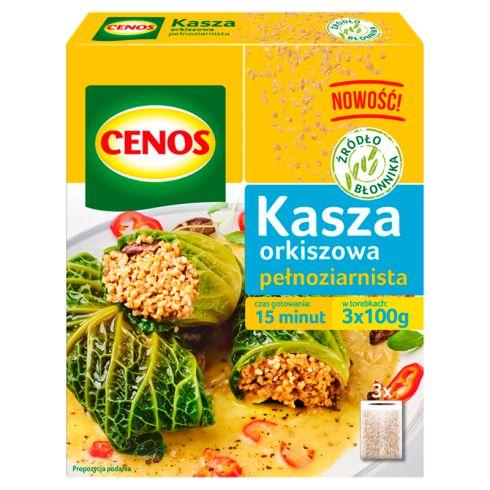 Cenos Kasza orkiszowa pełnoziarnista 300 g (3 torebki)