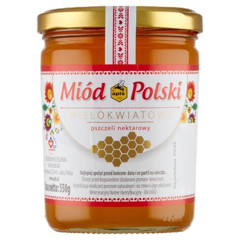 Apis Miód polski wielokwiatowy pszczeli nektarowy 550 g