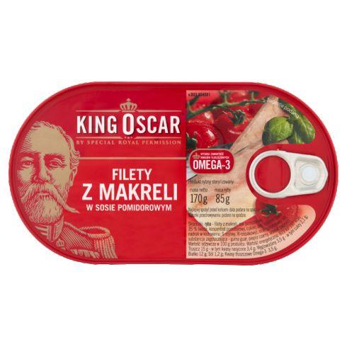 King Oscar Filety z makreli w sosie pomidorowym 170 g