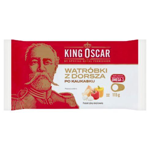 King Oscar Wątróbki z dorsza po kaukasku 115 g