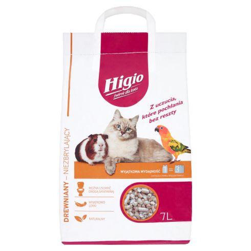Higio Żwirek dla kota drewniany niezbrylający 7 l