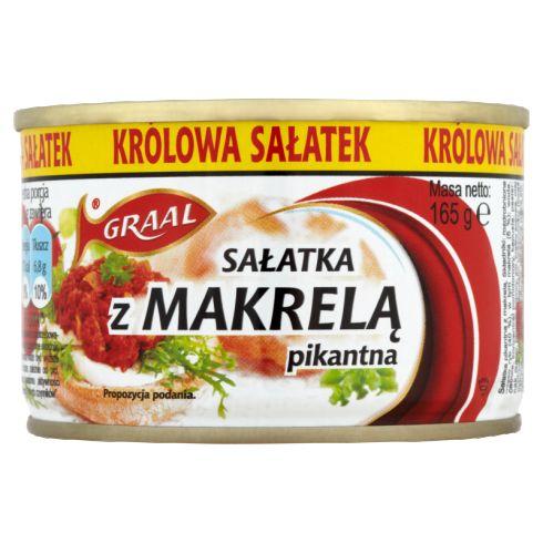GRAAL Sałatka z makrelą pikantna 165 g