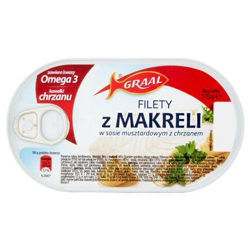 GRAAL Filety z makreli w sosie musztardowym z chrzanem 170 g
