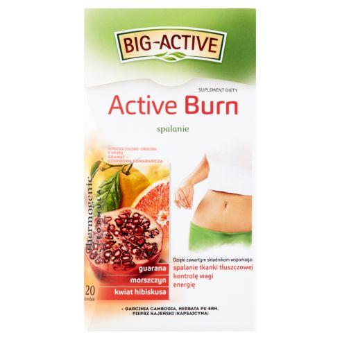 Big-Active Active Burn Herbatka ziołowo-owocowa Suplement diety 40 g (20 x 2 g)