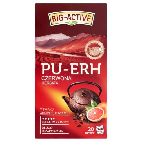 Big-Active Pu-Erh Herbata czerwona o smaku grejpfrutowym 36 g (20 x 1,8 g)