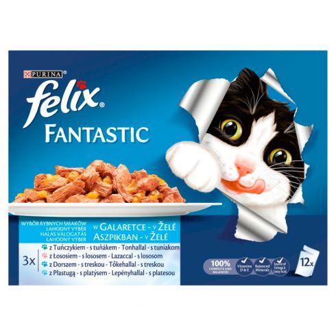 Felix Fantastic Karma dla kotów uczta oceanu w galaretce 1200 g (12 x 100 g)
