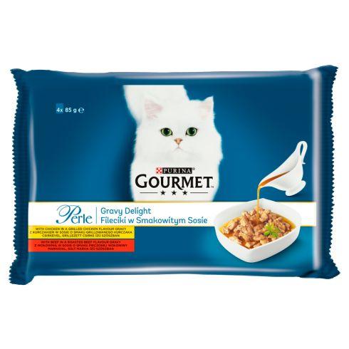 Gourmet Perle Karma dla kotów kolekcja mini filecików w smakowitym sosie 340g