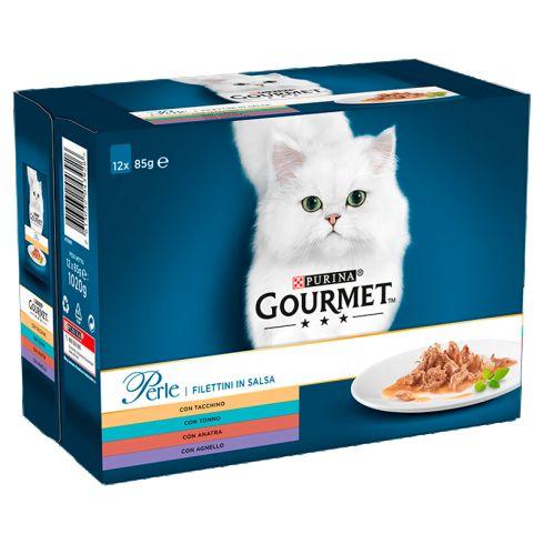 Gourmet Perle Karma dla kotów kolekcja mini filecików w sosie 1020 g (12 x 85 g)