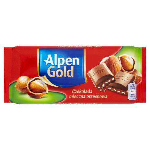 Alpen Gold Czekolada mleczna orzechowa 90 g