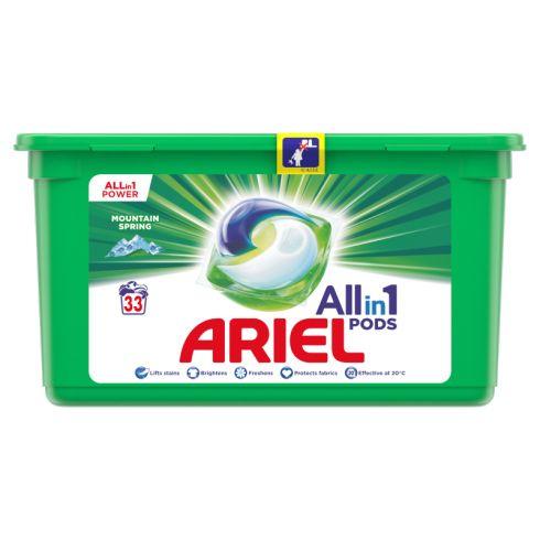 Ariel Allin1 PODS Mountain Spring Kapsułki do prania, 33 prań