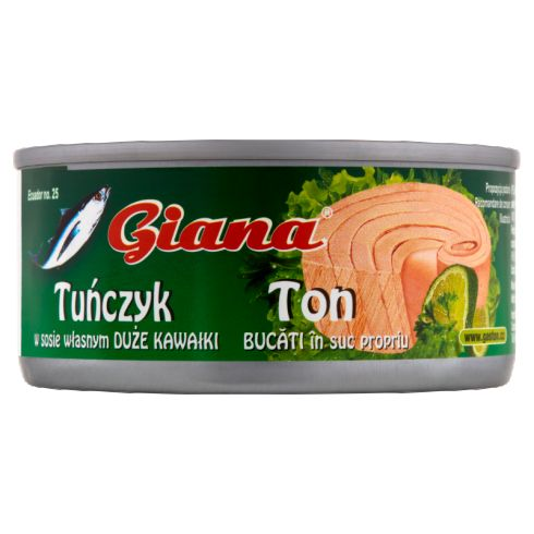 Giana Tuńczyk kawałki w sosie własnym 170 g