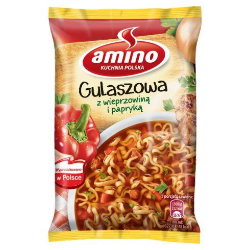 Amino Zupa gulaszowa z wieprzowiną i papryką 59 g