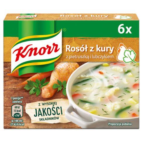 Knorr Rosół z kury z pietruszką i lubczykiem 60 g (6 x 10 g)