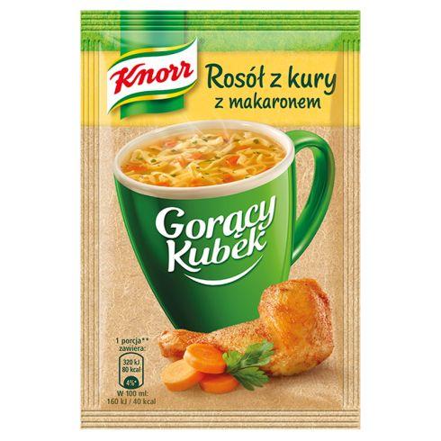 Knorr Gorący Kubek Rosół z kury z makaronem 12 g