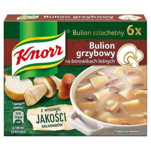 Knorr Bulion grzybowy na borowikach leśnych 60 g (6 x 10 g)