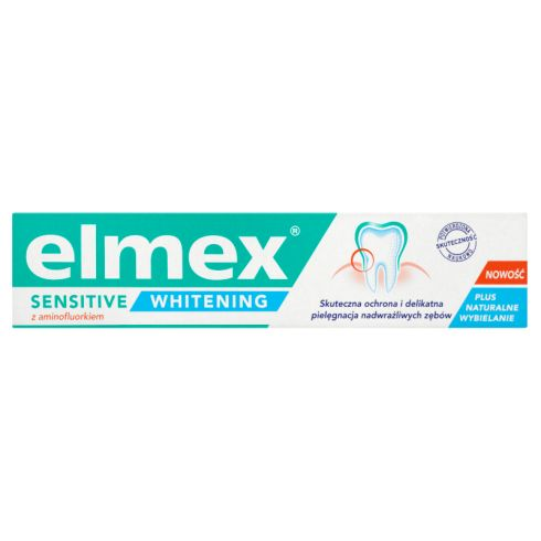elmex Sensitive Whitening Pasta do zębów z aminofluorkiem 75 ml