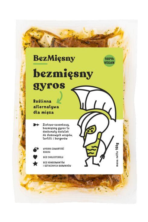 Bezmięsny Gyros zioło - czosnkowy 160g